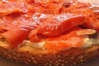 Receta de sándwich de salmón con queso