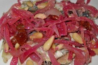 Receta de sardinas en escabeche con cebolla
