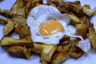 Receta de setas con huevos