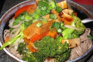 Receta de soba con verduras