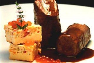 Receta de solomillo de cerdo ibérico con caviar de higo chumbo