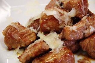 Receta de solomillo de cerdo ibérico con queso