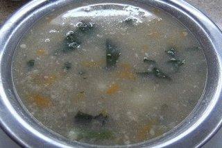 Receta de sopa de arroz y verduras