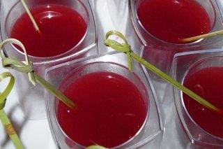 Receta de sopa de fresas y kiwi