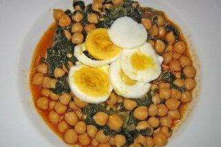 Receta de sopa de garbanzos y espinacas
