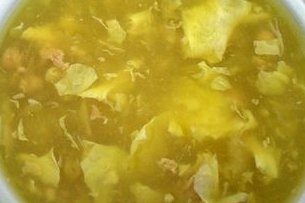 Receta de sopa de huevo con jamón