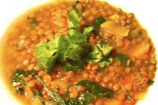 Receta de sopa de lentejas al curry