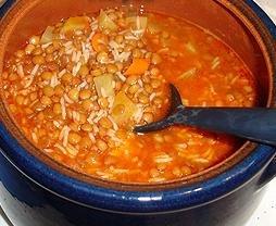 Receta de sopa de lentejas