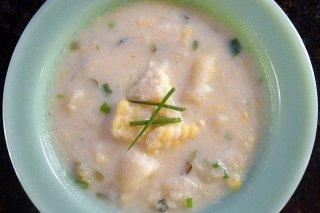 Receta de sopa de maíz y patata