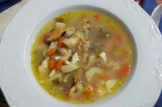 Receta de sopa de mejillones y gambas