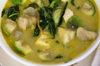 Receta de sopa de pescado con acelgas