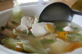 Receta de sopa de pescado y ajo