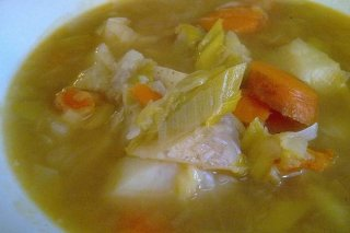 Receta de sopa de pollo con picadillo