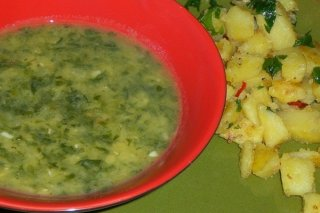Receta de sopa de verduras con espinacas