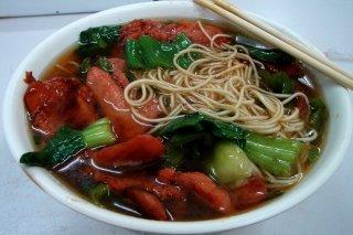 Receta de sopa de verduras con fideos chinos
