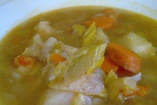 Receta de sopa de verduras con puerro