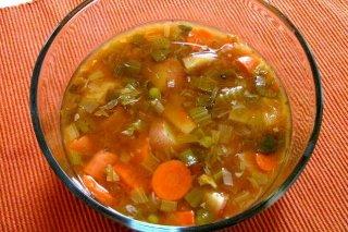 Receta de sopa de zanahoria y puerro