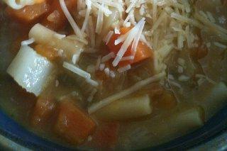 Receta de sopa de zanahorias gratinada