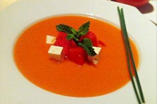Receta de sopa fría de tomate y sandía