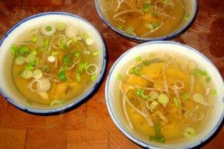 Receta de sopa japonesa de verduras