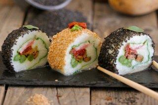 Receta de sushi de patata y verduras