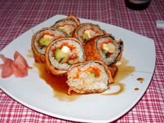 Receta de sushi frito
