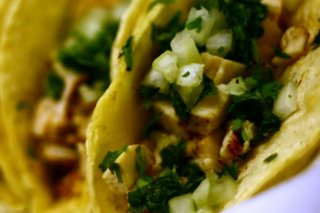 Receta de tacos de pollo y verduras