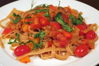Receta de tallarines con tomates