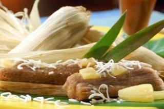 Receta de tamales de piña y coco