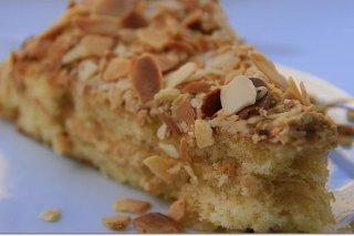 Receta de tarta de almendras con aroma de café