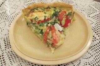 Receta de tarta de atún y tomates