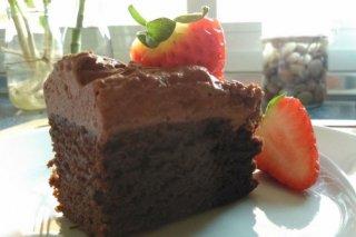 Receta de tarta de calabacín con chocolate
