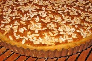 Receta de tarta de calabaza y piñones