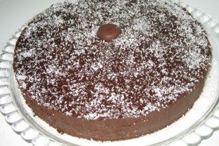 Receta de tarta de chocolate y coco