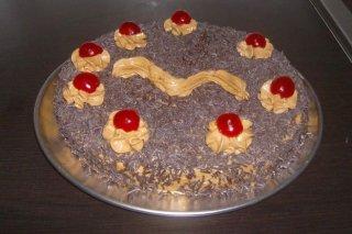 Receta de tarta de crema de moka