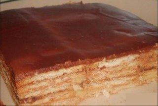 Receta de tarta de galletas con leche condensada