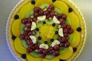 Receta de tarta de kiwi con piña