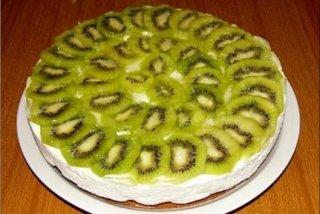 Receta de tarta de kiwis y nata