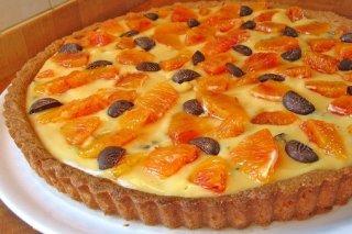 Receta de tarta de mandarina y chocolate