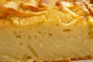 Receta de tarta de manzana exprés