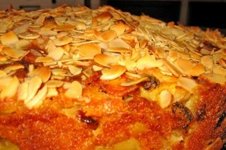 Receta de tarta de miel y almendras