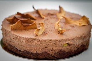 Receta de tarta de mousse de chocolate con manzana