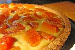 Receta de tarta fría de naranja