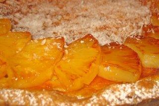 Receta de tarta de piña y coco