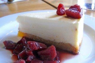 Receta de tarta de queso con peras