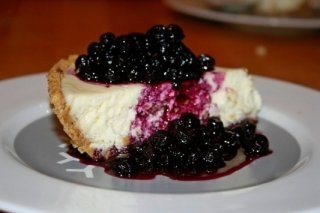 Receta de tarta de queso philadelphia con arándanos