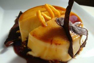 Receta de tarta flan de naranja