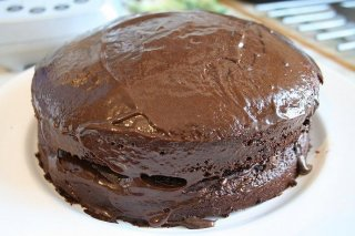 Receta de tarta mousse de fudge de chocolate y manjar blanco