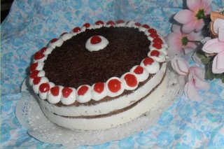 Receta de tarta selva negra con cerezas