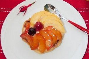 Receta de tartaletas de manzana y cebolla